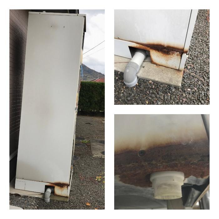 温水器撤去前 排水部腐食