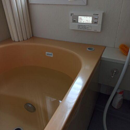 試運転中 浴槽リモコン